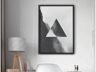 Jak udekorować wnętrza – może plakat geometryczny?