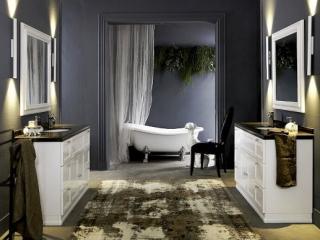 Ciemne barwy w łazience i kuchni. Nie tylko dla odważnych.