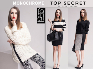 Monochrome Top Secret Fashion Collection