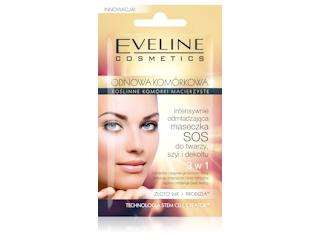 Intensywnie odmładzająca maseczka do twarzy, szyi i dekoltu 3 w 1 Eveline Cosmetics.