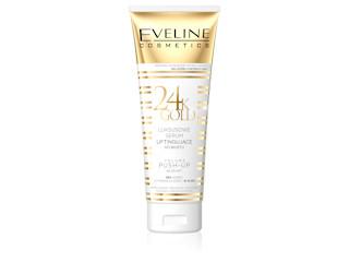 Luksusowe serum liftingujące do biustu z serii 24K GOLD Eveline Cosmetics.