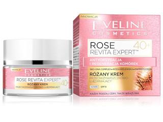 Różany krem przeciwzmarszczkowo-ujędrniający 40+ z serii ROSE REVITA EXPERT™ Eveline Cosmetics.