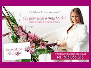 Kwiaty od Bukiety Baranowska jako idealny prezent na Dzień Matki