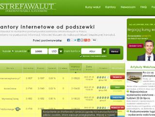 PORÓWNUJEMY KANTORY INTERNETOWE NA STREFAWALUT.PL