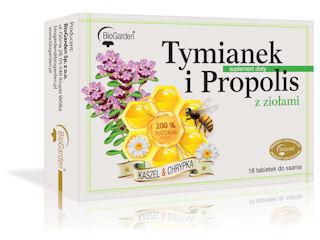 Tymianek i Propolis z ziołami na gardło.