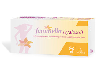 FEMINELLA© Hyalosoft - regeneracja i nawilżenie błony śluzowej pochwy.