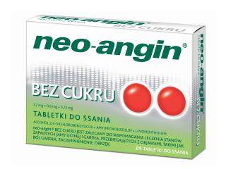 neo-angin na ból gardła.