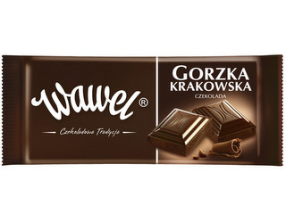Gorzka Krakowska czekolada od Wawel.